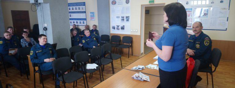 Сотрудникам МЧС вручили знаки отличия ВФСК ГТО